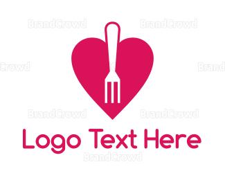Blog - Pink Heart Fork logo design