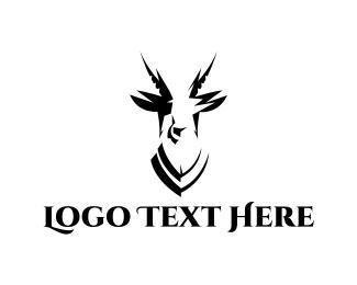 Hunter - Black Antelope logo design