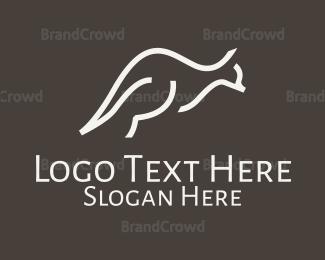 Jump - Minimalist Kangaroo logo design