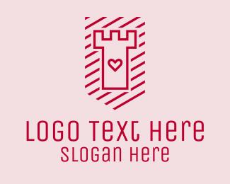 Matchmaking - Love Tower Shield logo design