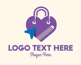 Purse - Purple Online Shopping Bag logo design