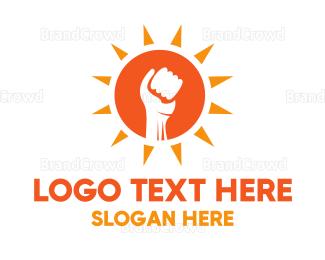 Energy - Sun Fist logo design