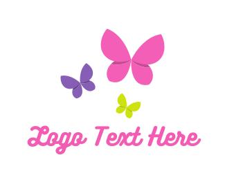 Dance - Flying Butterflies logo design