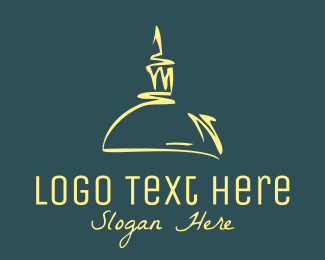 French - Text Dome logo design