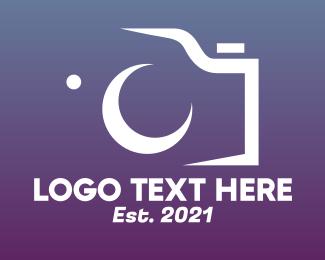 Journalist - Minimalist Camera Silhouette logo design