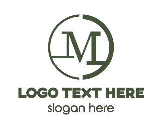 Programming - Modern Green M logo design