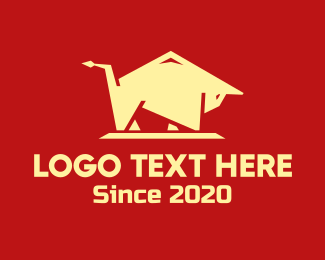 Abstract - Abstract Bull logo design