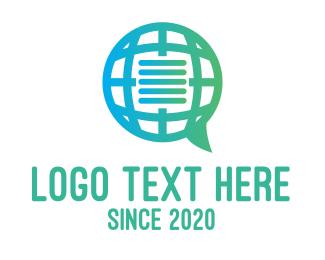 Communication - Global International Message Communications logo design