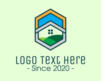 Home Builder - Hexagon Home Property logo design