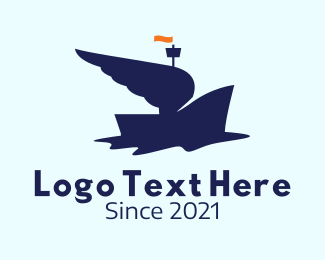 Voyage - Blue Winged Boat logo design