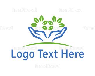 Eco Energy - Eco Hands logo design