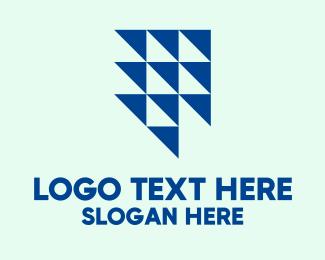 Triangles - Blue Arrow Triangles logo design