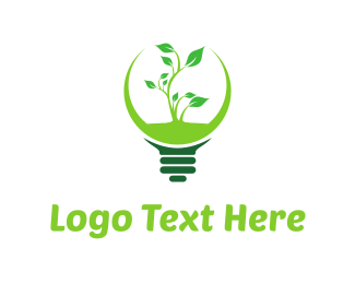 Biodegradable - Green Eco Light logo design