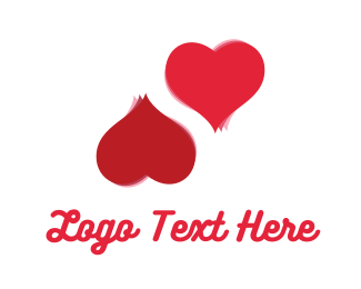 Divorce - Two Love Hearts logo design
