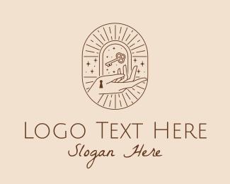 Key - Shining Mystic Key logo design