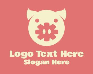 Pork - Asterisk Pig logo design