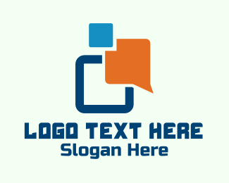 Text - Digital Messaging App logo design
