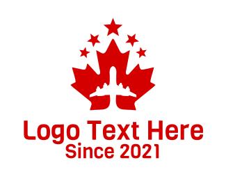Maple - Canadian Airline logo design