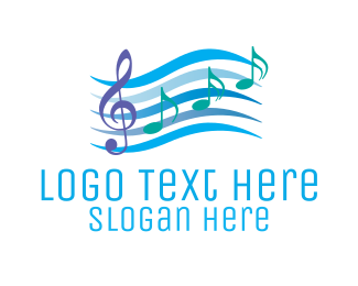 Purple Note - Musical Song Notes logo design
