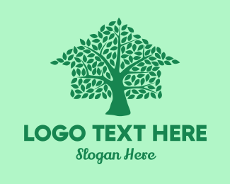 Tree House - Eco Tree House logo design