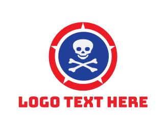Cranium - Skull Shield logo design