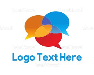 Language - Chat Bubbles logo design