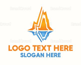 Alaska - Peak & Lake logo design
