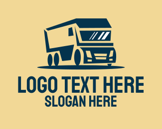 Truck - Cargo Delivery Truck logo design