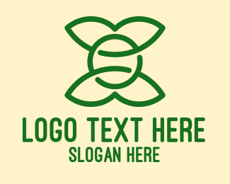 Eco Friendly - Simple Eco Friendly Leaves  logo design