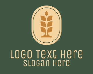 Wheat - Wheat Badge Bakery logo design