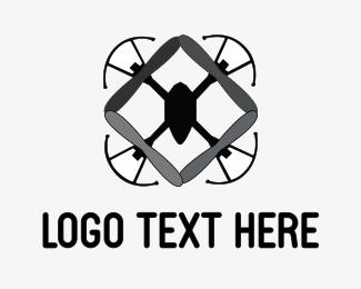 Filming - Grey Drone logo design