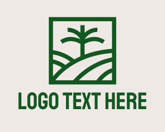Image - Palm Tree Field logo design
