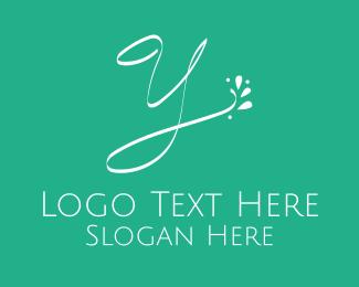 Masseur - Floral Letter Y logo design
