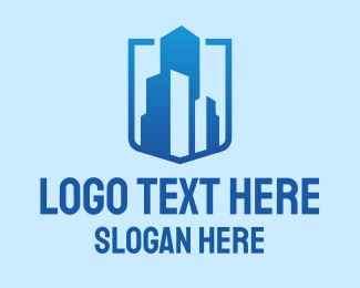 Office Building - Blue High Rise Building logo design