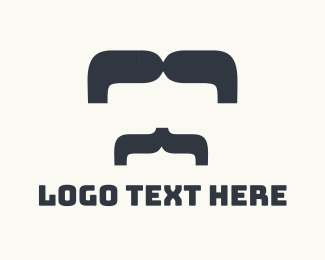 Barber - Big Moustache logo design