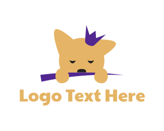 Sleepy - Puppy Princess logo design