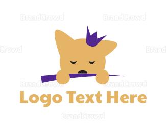 Tiara - Puppy Princess logo design