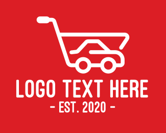 Shopping Cart - Car Shopping Cart logo design