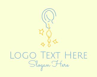 Shimmering - Dangle Earring Jewelry  logo design