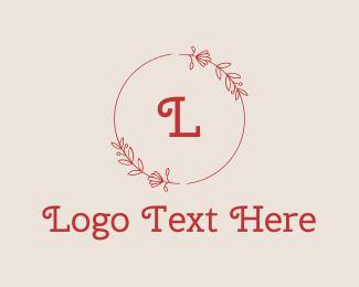 Wedding Coordinator - Red Elegant Beauty Letter logo design