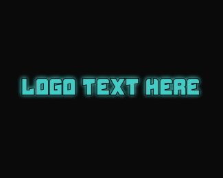 Techy - Techy Blue Text logo design