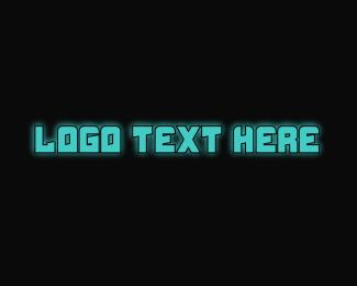 Text - Techy Blue Text logo design