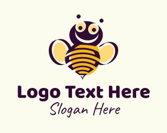 Bee Keeper - Honey Bumblebee logo design