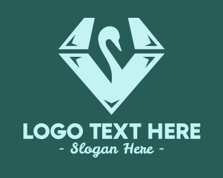 Luxury - Swan Diamond logo design