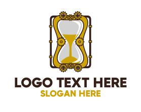 Steampunk - Steampunk Hourglass logo design