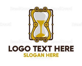 Engineering - Steampunk Hourglass logo design