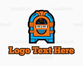 Stereo - Colorful Jukebox logo design