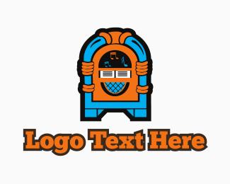 Karaoke - Colorful Jukebox logo design
