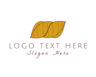 Taste - Wrapped Leaves logo design