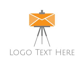 Tripod - Easel Mail logo design